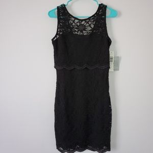 Jump Black Lace Sleeveless Mini Dress 11/12